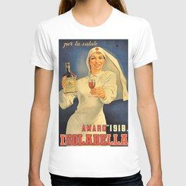 1918 Extremely Rare Amaro Aperitif Gino Boccasile Isolabella Vintage Advertising Food & Wine Poster T-shirt