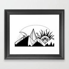 tú tan sol y yo tan luna Framed Art Print