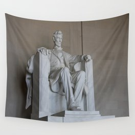 President Lincoln Statue - Washington DC Wall Tapestry