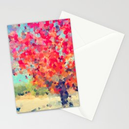 Orange Tree Watercolor digital Stationery Cards
