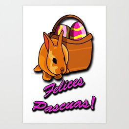 Felices Pascuas Art Print