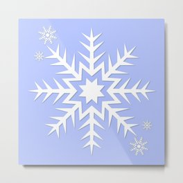 Snowflakes! Metal Print
