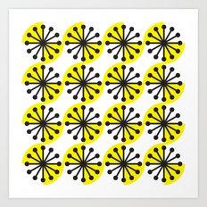 Yellow sunburst #2 Art Print