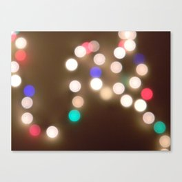 christmas lights are the best. Canvas Print
