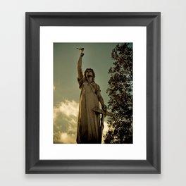 Anchor Statue Framed Art Print