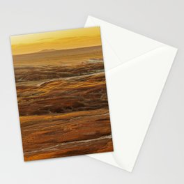 Glowing sunset landscape of Petrified Forest National Park Stationery Cards