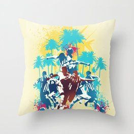 Colors of football Throw Pillow