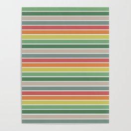 Vintage stripes Poster