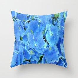Elegant Blue Hydrangea Throw Pillow