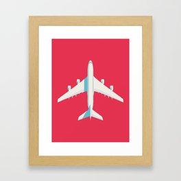 A380 Super Jumbo Jet Airliner - Crimson Framed Art Print