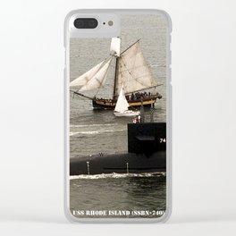 USS RHODE ISLAND (SSBN-740) Clear iPhone Case