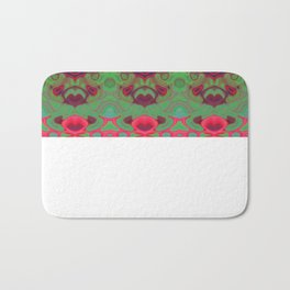 Pink and green marble Bath Mat