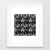 wrestling Framed Art Prints featuring WRESTLING by DIVIDUS