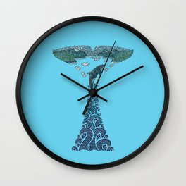 Glacier Bay II Wall Clock