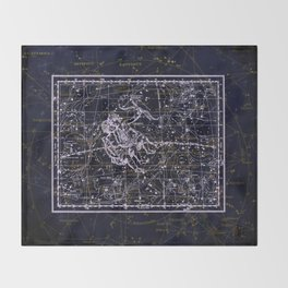 Gemini, Constellation map, Zodiac, Sign sky, Stars, Universe, astrology, astrological, signs, birth Throw Blanket