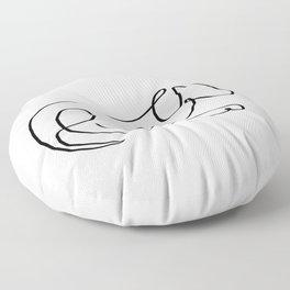 One line sleepy dog Floor Pillow