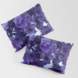 Raw Amethyst - Crystal Cluster Pillow Sham