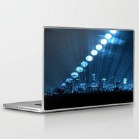 moonrise Laptop & iPad Skins featuring moonrise  by yahtz designs