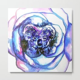 Koala Rose Metal Print