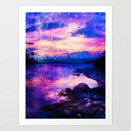 Abstract Sunburst Beach Art Print