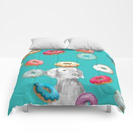 DOG AND DOUGHNUTS Comforters