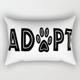 Adopt Paws Rectangular Pillow