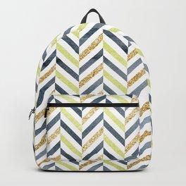 Watercolor & Glitter Chevron Backpack