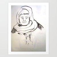 arab Art Prints featuring arab woman by Maureen Shirley