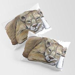 """Lazy Lioness"" - Java Jungle collection Pillow Sham"