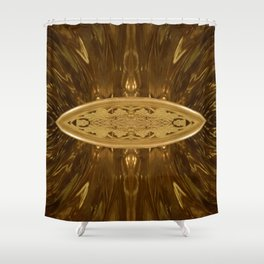 Golden Eye Shower Curtain