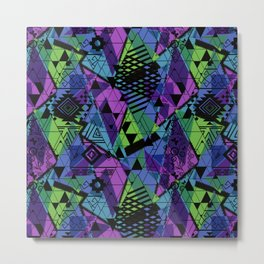Abstract ethnic pattern with bright colours. Metal Print