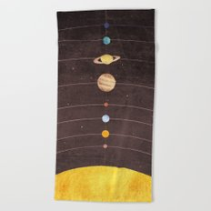 Solar System Beach Towel