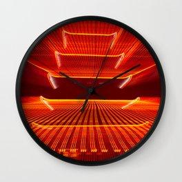 Abstract Reading Pagoda Night Photo Wall Clock