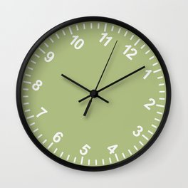 Tilt Clock: Green Wall Clock