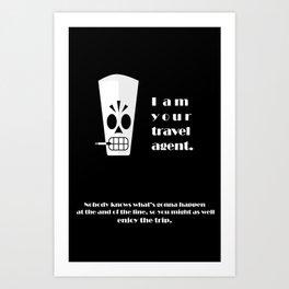 Grim Fandango - Manny Calavera Art Print