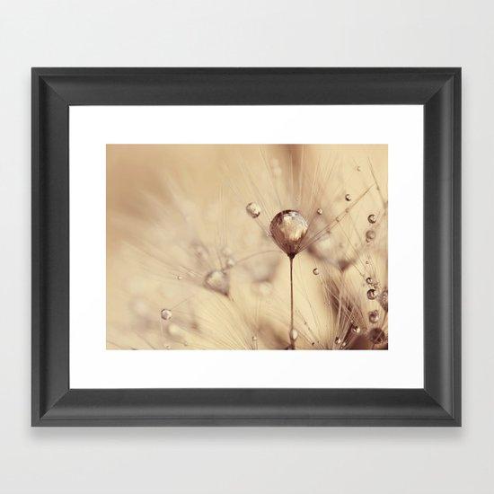 dandelion gold drop Framed Art Print