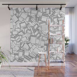 The Book Pile II Wall Mural