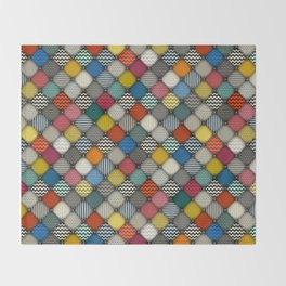 buttoned patches Throw Blanket
