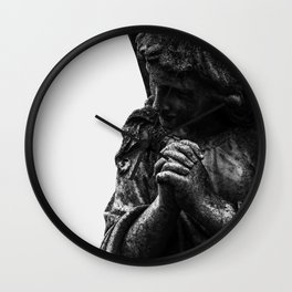 Angel in Prayer Wall Clock