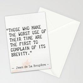 Jean de La Bruyère quote Stationery Cards