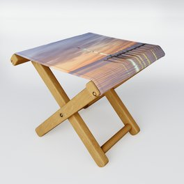 Brighton Beach Sunset Folding Stool