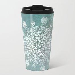 Turquoise Batik Mandala Float Travel Mug