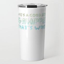 Good Boy Whippet Dog Travel Mug