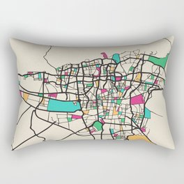 Colorful City Maps: Tehran, Iran Rectangular Pillow