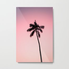 palm tree ver.pink Metal Print