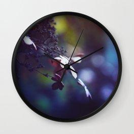 Vibrant Hydrangea Wall Clock