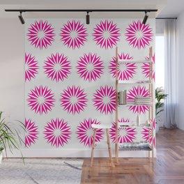 Pink Modern Sunbursts Wall Mural