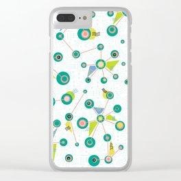 Burst Doodle Clear iPhone Case