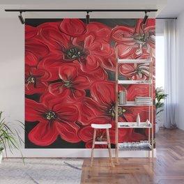 Red Poppies Wall Mural
