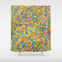 Mini Baby Pacifier Pastel Candy Pattern Shower Curtain
